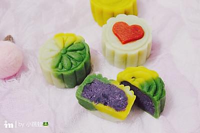 紫薯桃山皮月饼