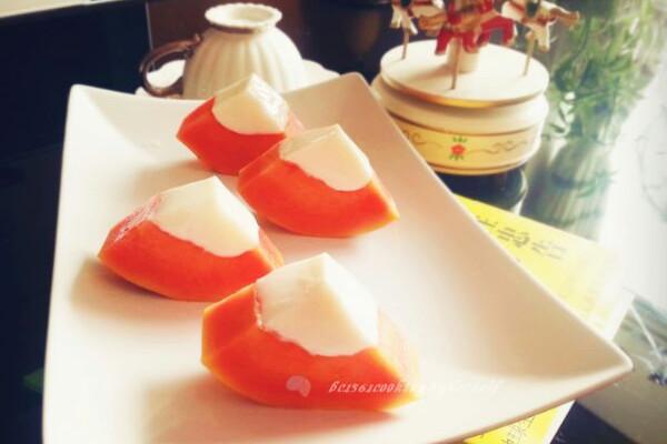 木瓜牛奶冰冻的做法_【图解】木瓜牛奶冰冻怎么做