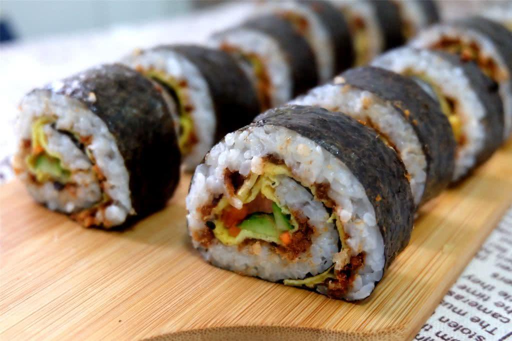 紫菜肉松包饭的做法_【图解】紫菜肉松包饭怎么做如何