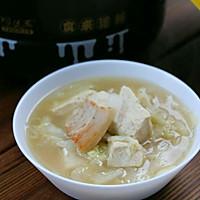 砂锅白菜五花肉炖冻豆腐