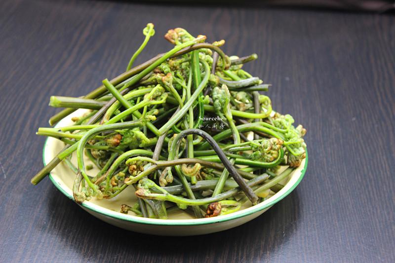 春天里的野菜,蒜蓉炒蕨菜