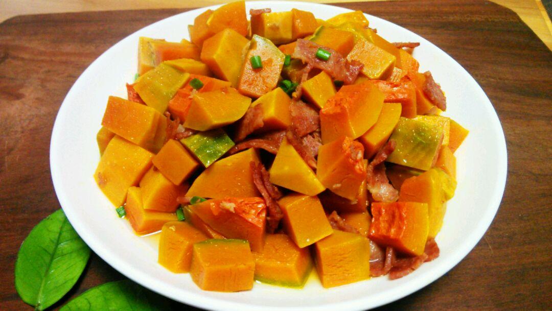 5量勺 培根蒸南瓜的做法步骤        本菜谱的做法由  编写,未经授权