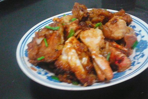 蒜茸油煎蟹的做法_【图解】蒜茸油煎蟹怎么做如何做