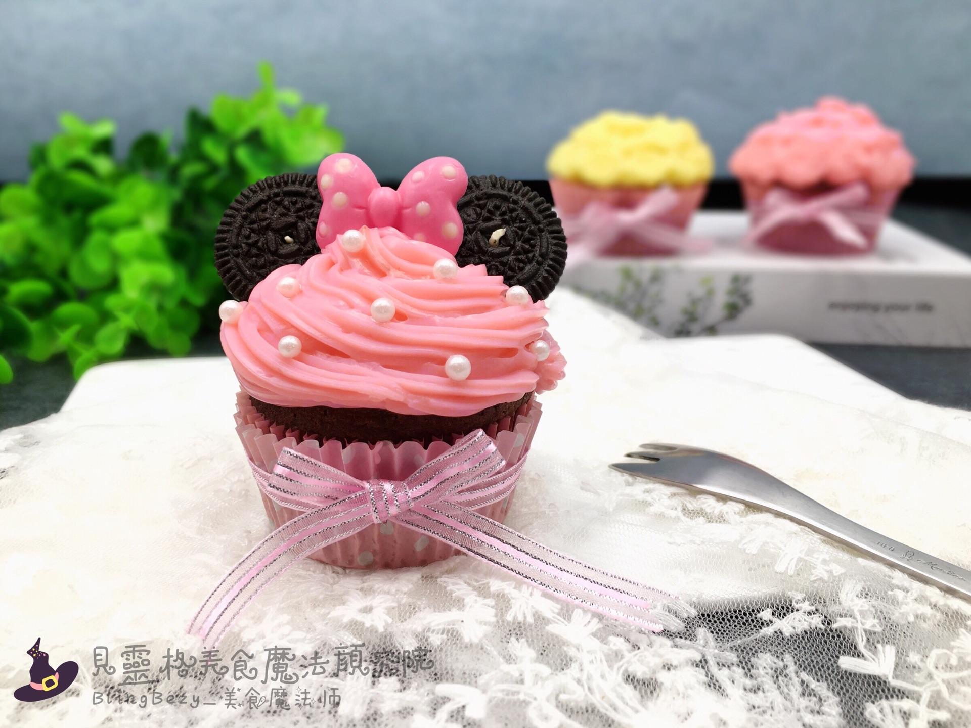 【美食魔法】米老鼠奶冻裱花马芬杯子蛋糕#相约mof#的