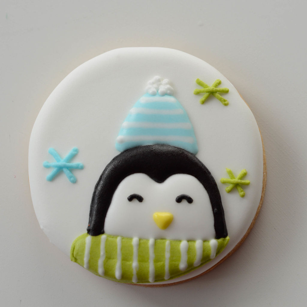 利用最简单的模具做出可爱的圣诞饼干的做法图解4