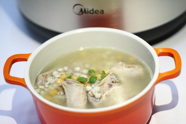 薏米鹰嘴豆排骨汤(炖)#胆.敢不同,美的原生态AH煲#的做法