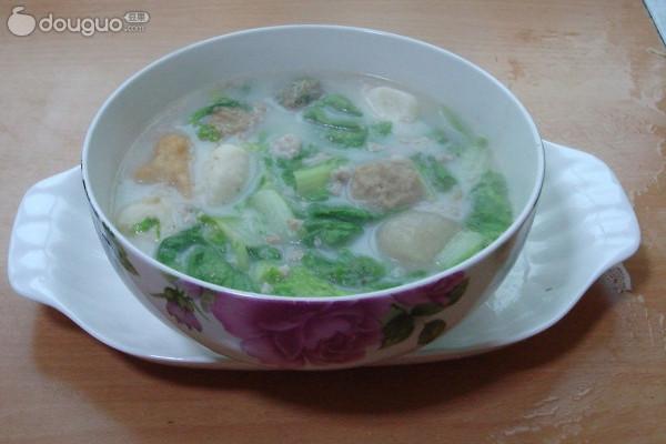 奶汤白菜的做法
