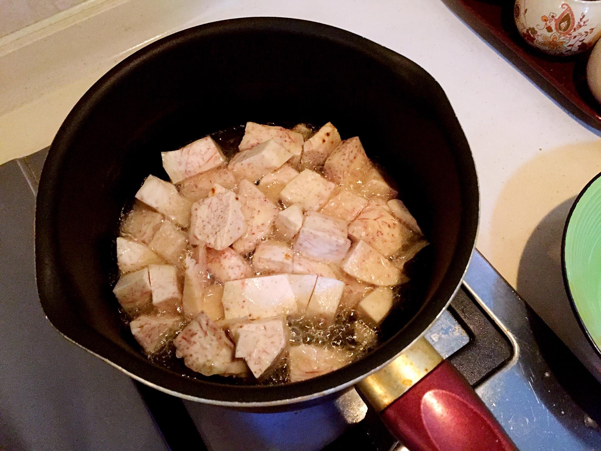香芋蒸排骨的做法图解2
