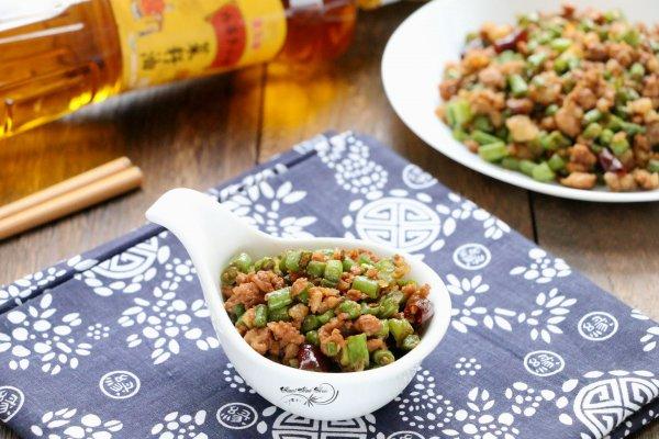肉末豇豆#金龙鱼外婆乡小榨菜籽油 最强家乡菜#的做法