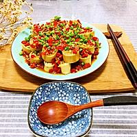 剁椒豆腐皮蒸肉卷