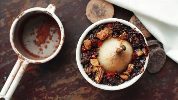 巧克力燕麦酥梨,满足你对甜品的所有期待