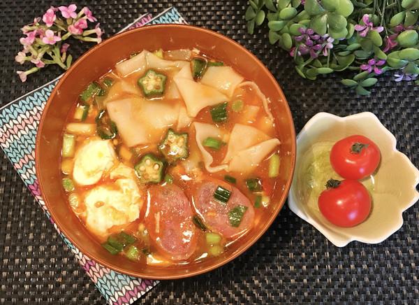 秋葵番茄面片汤