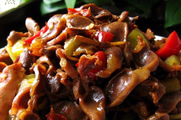 野山椒炒鸡胗的做法