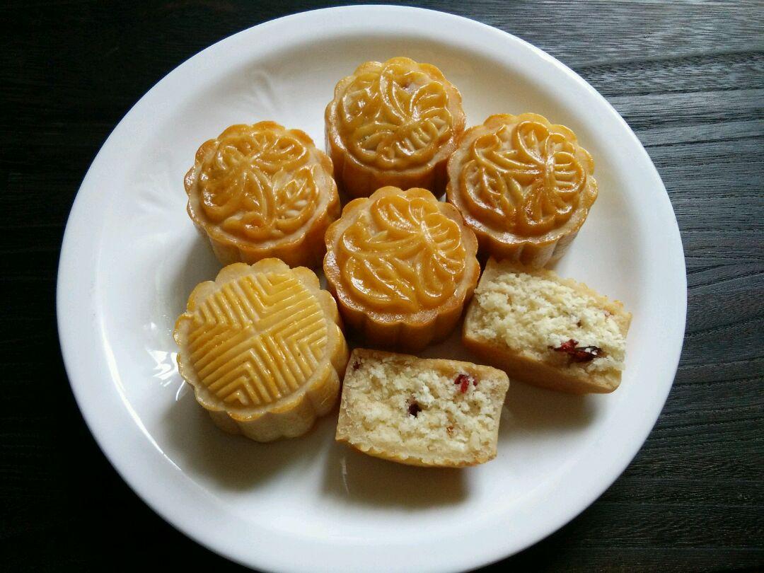 广式月饼~椰蓉.蔓越莓.豆沙馅的做法图解21