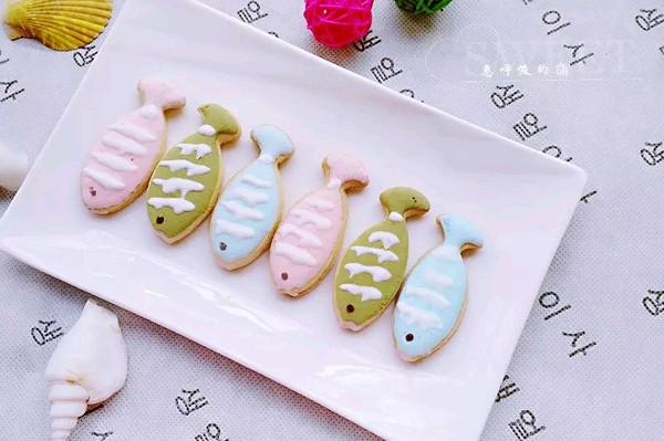小鱼糖霜饼干