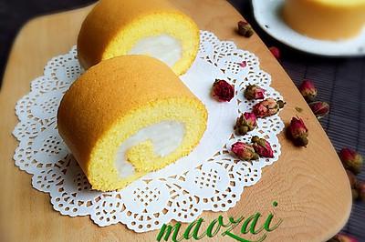 南瓜山药蛋糕卷