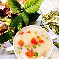 奶炖鸡肉蔬菜