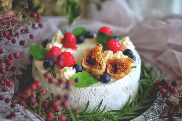 莓果抹茶戚风蛋糕#有颜值的实力派#的做法