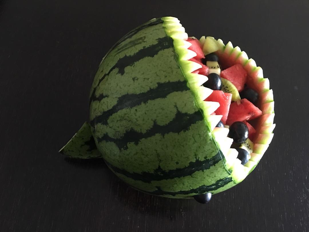 萌版鲨鱼西瓜的做法步骤