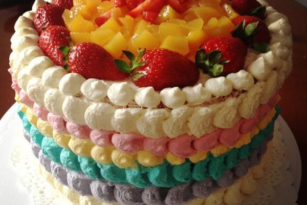 彩虹蛋糕的做法_【图解】彩虹蛋糕怎么做好吃