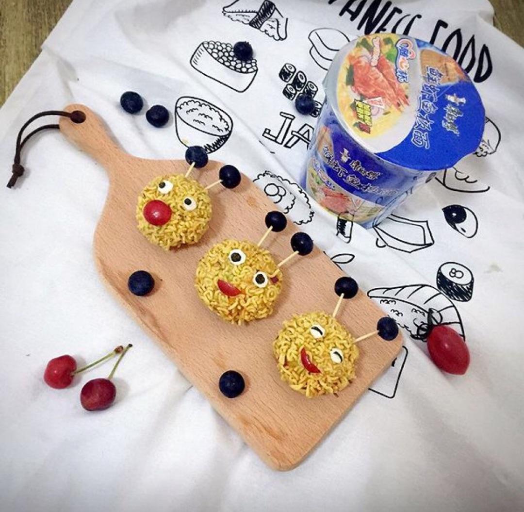 泡面小丸子#小虾创意料理图片