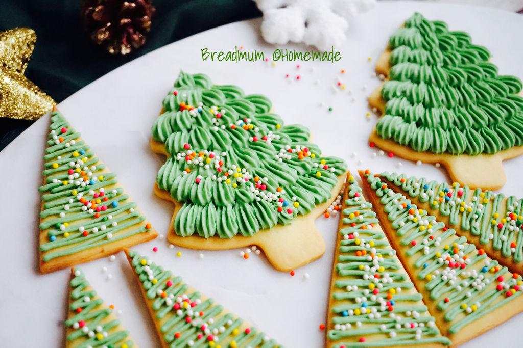 糖霜饼干-圣诞树装饰