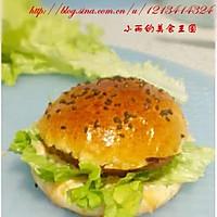 营养早餐猪肉汉堡