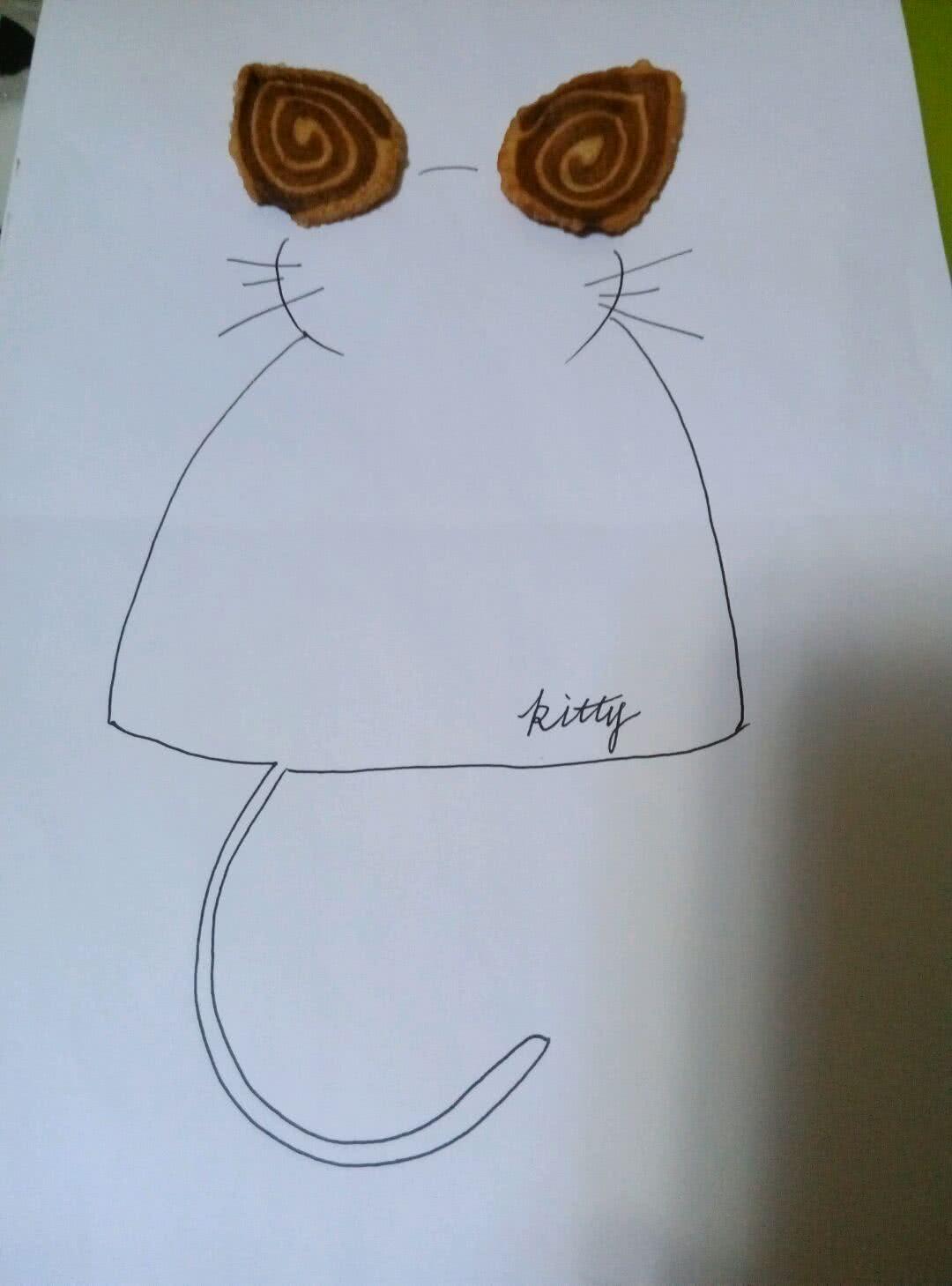 (^_^)小猫耳朵~制作简单的小零食