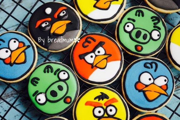 愤怒的小鸟糖霜饼干