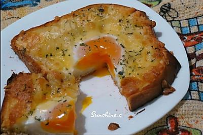 奶酪烤鸡蛋土司 #百吉福芝士力量#