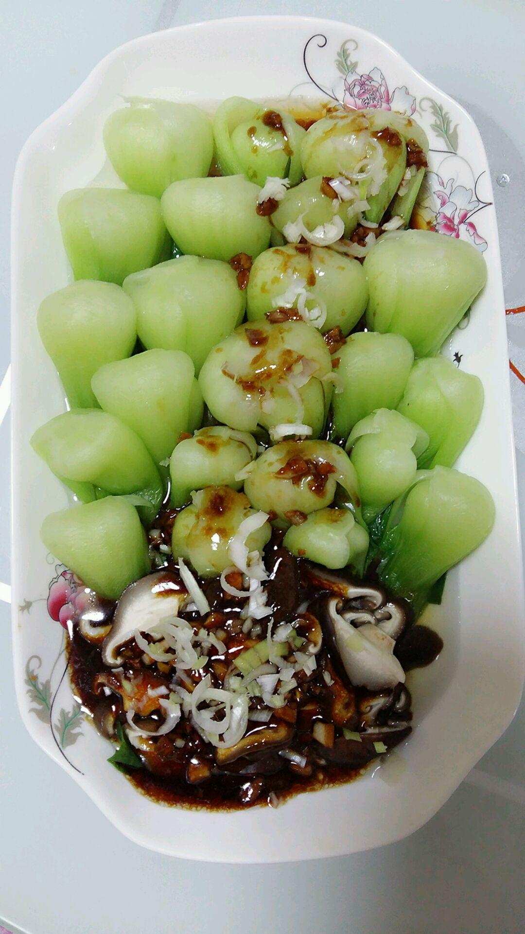 蚝油香菇油菜的做法_【图解】蚝油香菇油菜怎么做如何