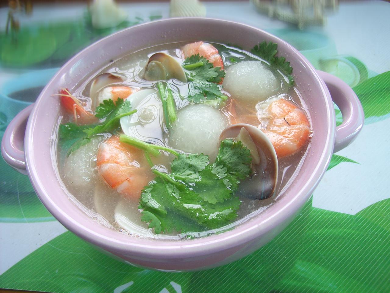 冬瓜海鲜汤的做法_海鲜冬瓜汤的做法_【图解】海鲜冬瓜汤怎么做如何做好吃_海鲜