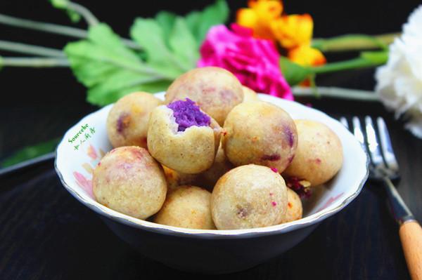 紫薯芋头丸子