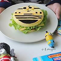 #百吉福冬季芝恋#小黄人米饭汉堡