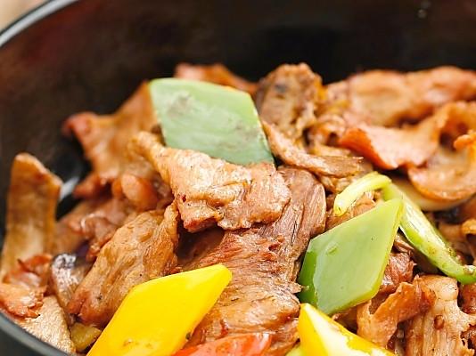 松茸菌生炒猪颈肉的做法