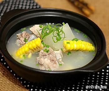 冬瓜玉米排骨汤(瘦身的好帮手)的做法