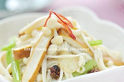 金针菇拌豆干
