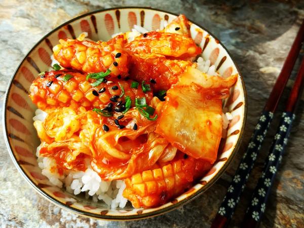 韩式酸辣鱿鱼拌饭
