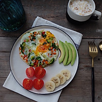 健康减脂早餐—低碳杂蔬烘蛋