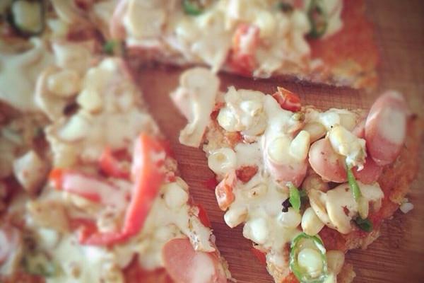 不需要烤箱的懒人米披萨的做法