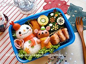 ... 小熊堆雪人可愛便當的做法的評論_怎麼樣_豆果美食