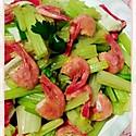 芹菜蟹柳炒北极虾
