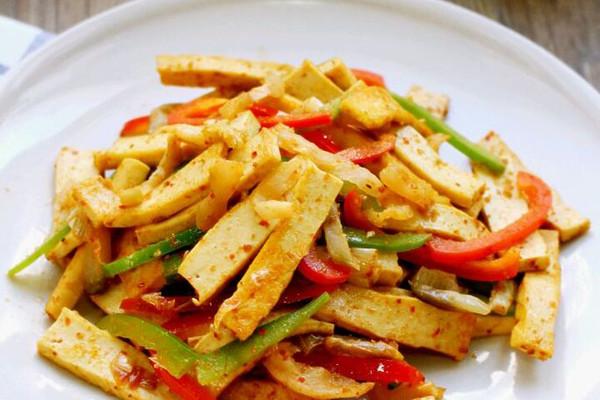 孜然青椒榨菜炒豆干