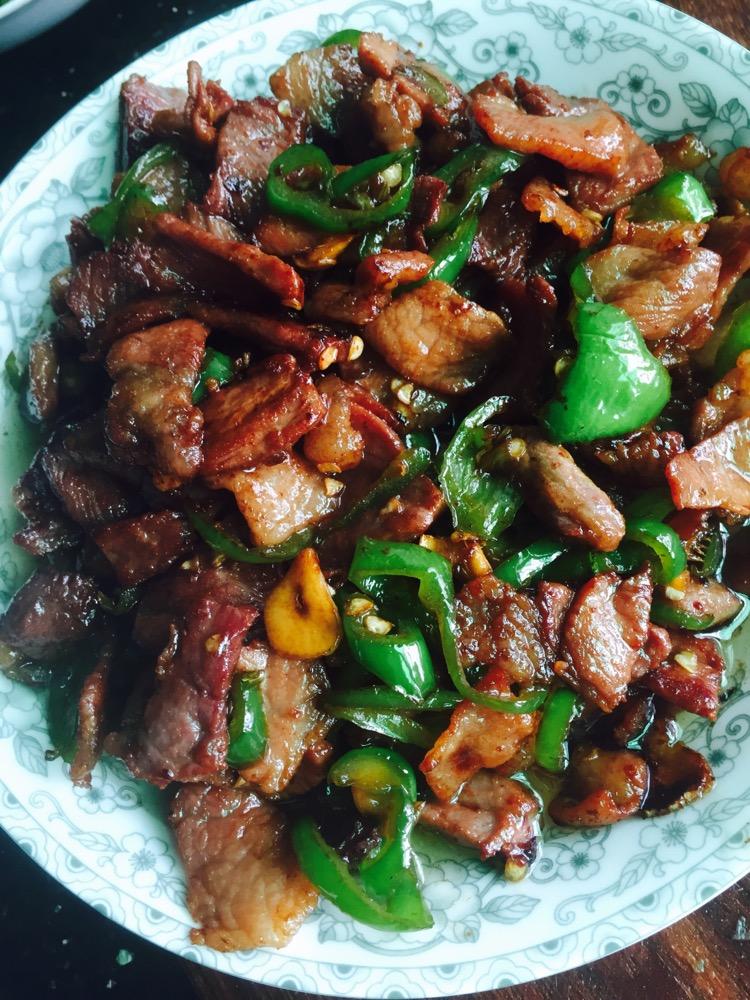 辣椒炒火腿肉