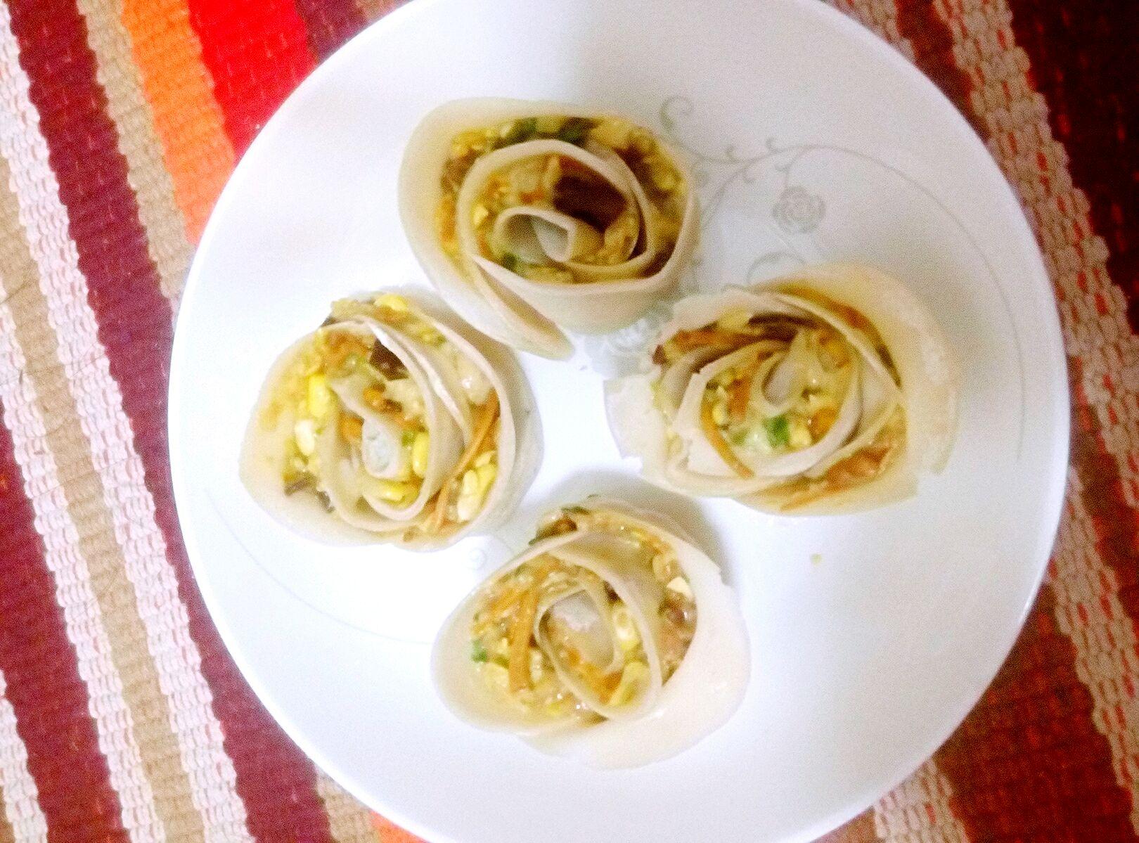 玫瑰花型饺子#方太蒸爱行动#的做法图解7