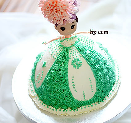 手绘情侣背影蛋糕