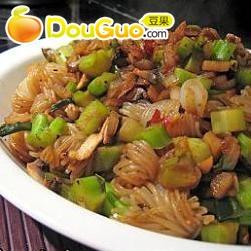 蒜茸豆豉炒粒的做法