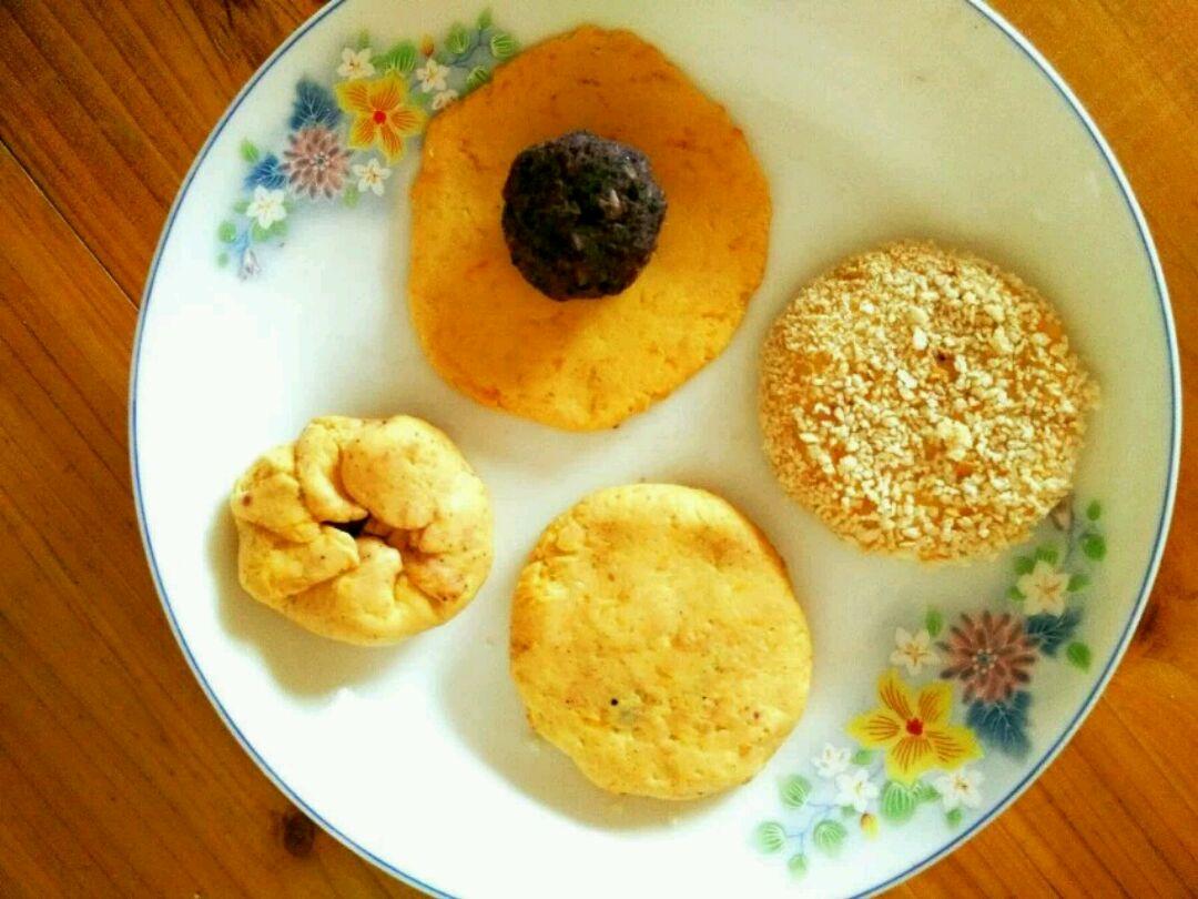 紫薯南瓜饼的做法步骤
