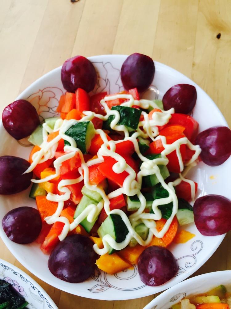5条 芒果2个 红提5颗 沙拉5g 水果沙拉的做法步骤 分类:        本