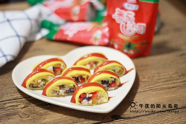 蛋皮蔬菜卷#十万个喂什么#(做给宝宝们吃的菜)的做法